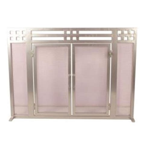 Fireplace Screens At Home Depot by Layton Nickel Single Panel Fireplace Screen Ds 21137 The