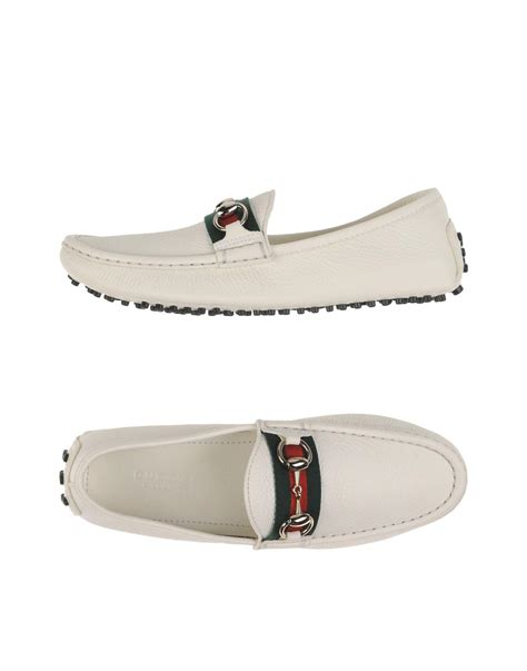 all white gucci loafers gucci loafer in white lyst
