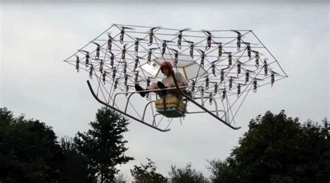 Home And Garden Design Software Reviews by Man Builds Flying Machine Using 54 Drone Propellers And A