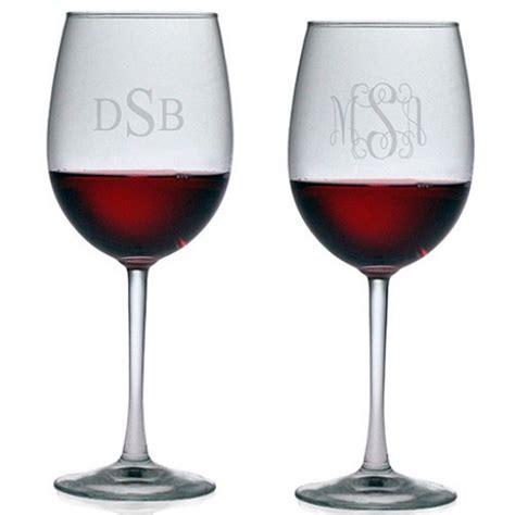monogram barware susquehanna all purpose wine glasses monogram set of 4