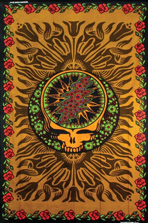 hippie tapestries grateful dead  band indian