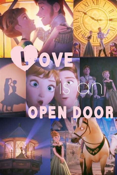 is an open door frozen