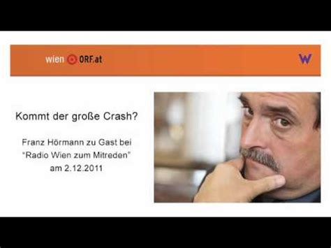 wann kommt der große crash quot kommt der gro 223 e crash quot franz h 246 rmann zu gast bei