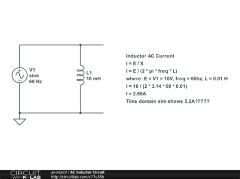 inductor circuit problems ac inductor circuit circuitlab