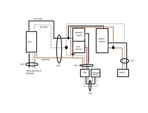 wiring diagram for bathroom light and fan wiring diagram
