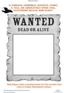 Free Wanted Poster Template For Kids Raven Mysteries Wanted Poster Scholastic Kids Club