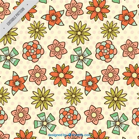 design pattern used in spring floral pattern in flat design for spring vector free