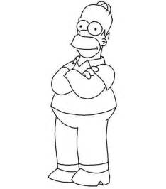 homer simpson from the simpsons coloring page coloring sun