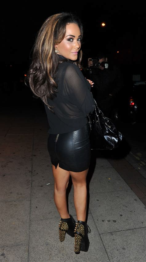 lovely in leather chelsee healey wearing a tight