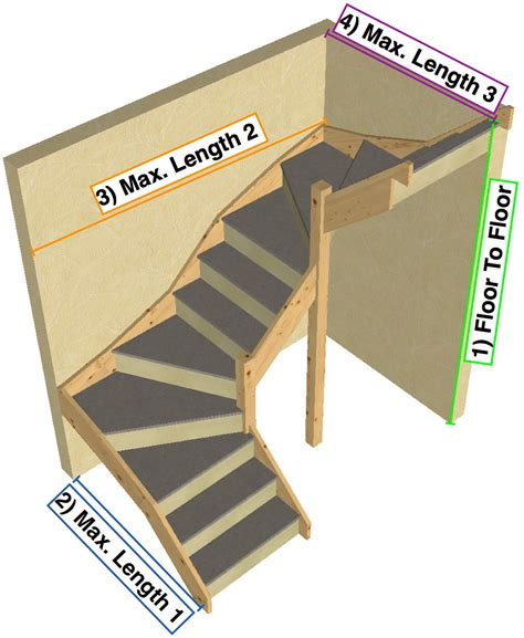 TKStairs: Guide on how to measure a double turn staircase