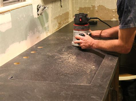 An Undermount Sink In Laminate Countertops