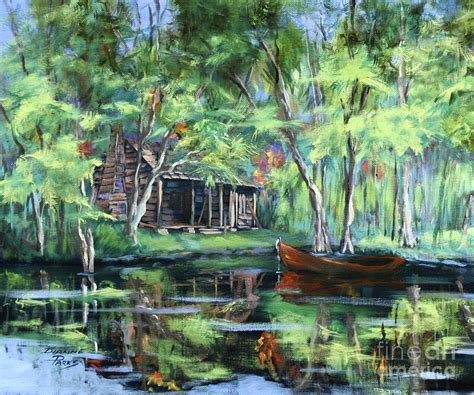 Country House Plans Online the red pirogue painting by dianne parks