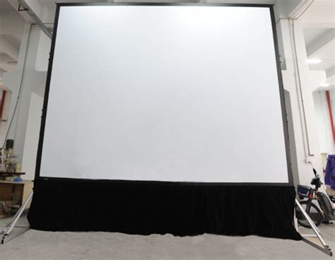 World Screen Fast Fold 400 43 Matte White fast fold mobile 120 inch projection screen for indoor