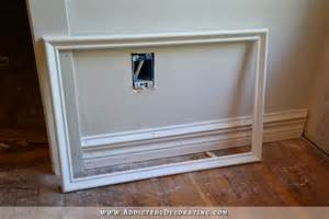 How To Attach Wainscoting To Drywall How To Install Picture Frame Moulding The Easiest