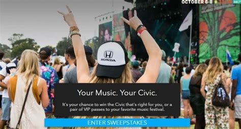 American Sweepstakes Advisor - honda stage at music festivals sweepstakes 2017 2018 usascholarships com