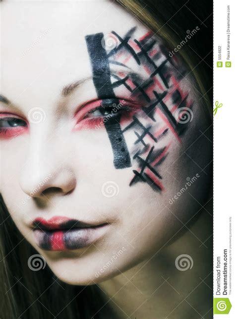 creative face paint stock photo image  dream hair