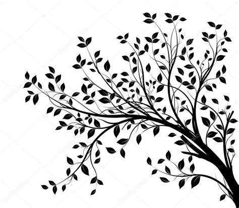 winter design trees retro art template abstract beautiful silhueta de galhos de 225 rvore isolada sobre fundo branco