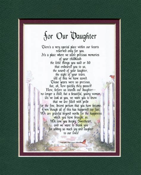 For Our  Ee  Daughter Ee   Grown Children Genies Poems