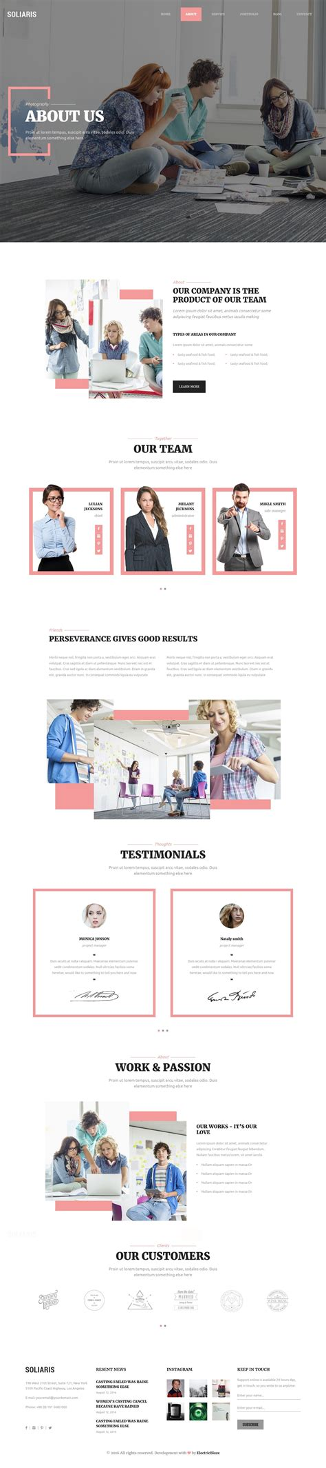 bootstrap themes nulled soliaris business bootstrap wordpress theme download