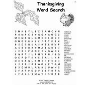 Printable LG Thanksgiving Word Search – Happy Easter