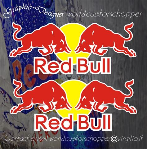 Auto Sticker Red Bull by 2 Adesivi Stickers Red Bull Cod As181