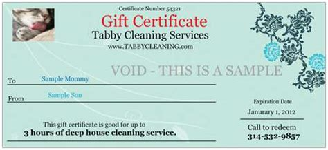 house cleaning gift certificate template cleaning service gift certificate template free voucher