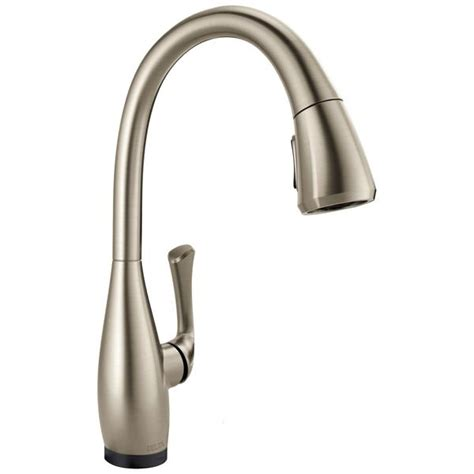 delta dominic single handle pull kitchen faucet