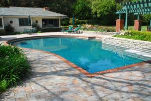 pool deck designs for above ground pools pool design