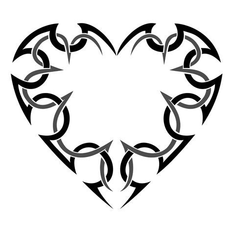 heart tattoo logo tribal heart clipart 53