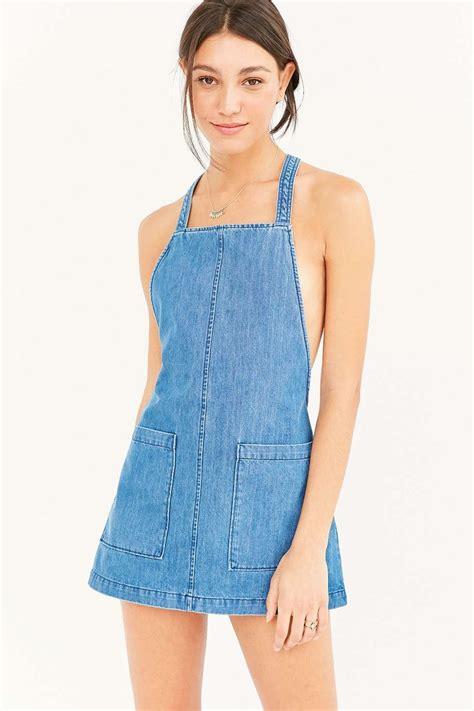 Dress Yuyu Mini Dress Denim saylor ariel washed denim mini dress outfitters uodenim ariel mini