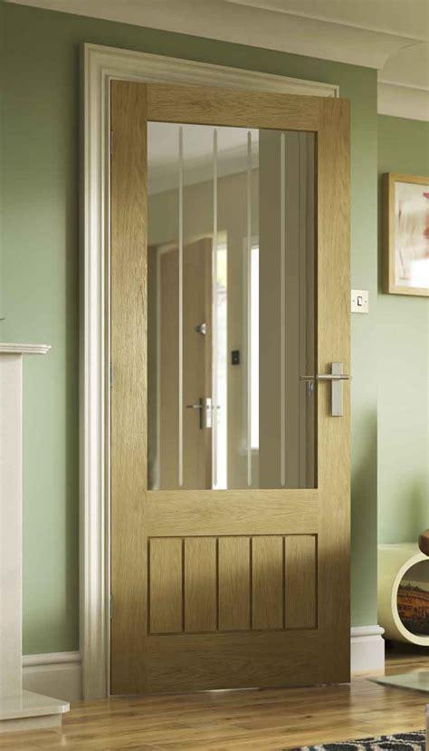 Fully Glazed Interior Doors by Grooved Oak Door