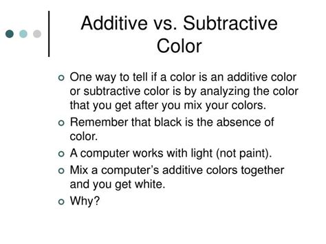 additive vs subtractive color ppt hexadecimal colors powerpoint presentation id 6686318