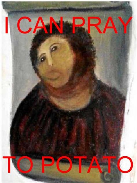 Fresco Jesus Meme - botched ecce homo painting know your meme