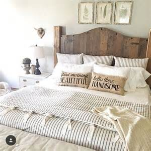 Bedding And Home Decor ticking stripe bedding farmhouse bedding duvet wood