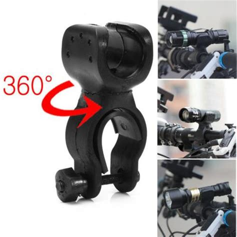 Bike Bicycle Flashlight Senter Holder Easy Mount And Ea Diskon easy rotation swivel bicycle mount road bike headlight flashlight torch light l holder