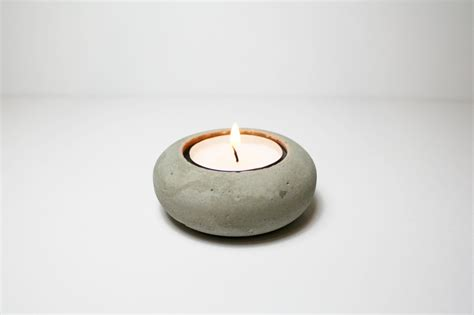 tea light holders minimalist concrete tea light holder interior design ideas