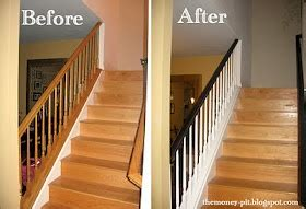 how to restain stair banister banister tutorial trim pinterest stairs banisters