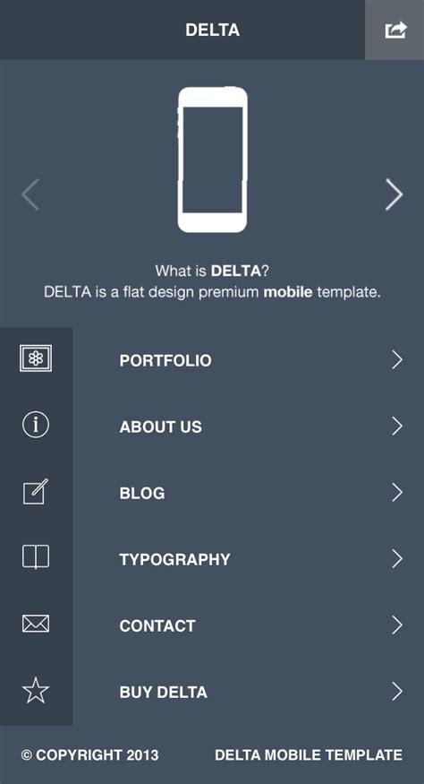 mobile themes jar format delta flat designed wp mobile theme by lukepostulka