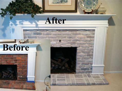 whitewashing brick fireplace bricks faux fabulous interiors