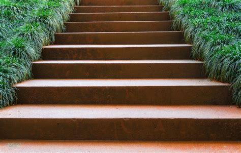 Gartentreppe Stahl treppe cortenstahl gartentreppen designline