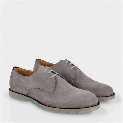 gray shoes paul smith grey suede merton shoes with translucent