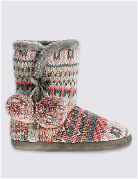 slipper boots marks and spencer novelty gifts m s