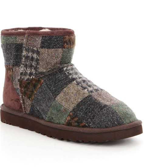 Uggs Patchwork Boots - ugg 174 classic mini patchwork 180 s boots for lyst