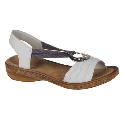 reiker sandals rieker mines white leather sandal marshall
