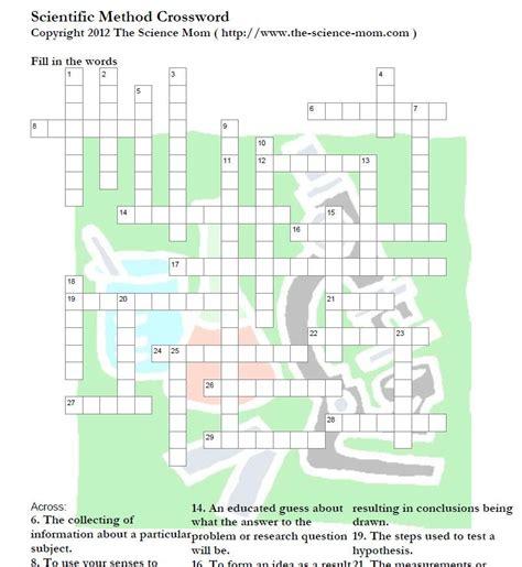 printable science puzzles this printable scientific method crossword puzzle includes
