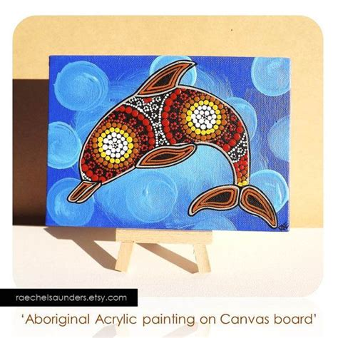acrylic paint on canvas board australian aboriginal dot acrylic paint on