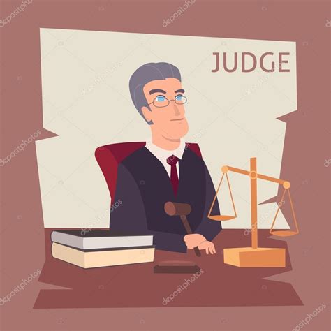 imagenes animadas de justicia gratis ilustraci 243 n de dibujos animados de juez vector de stock