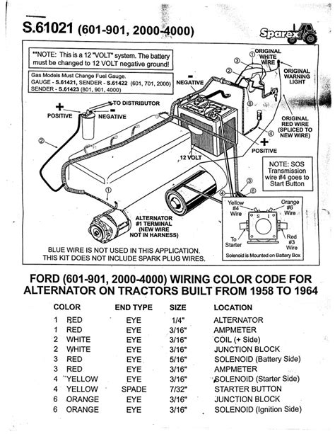 2000 ford tractor wiring diagram