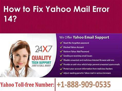 yahoo email error 14 fix yahoo mail error 14 call 1 888 909 0535 yahoo support