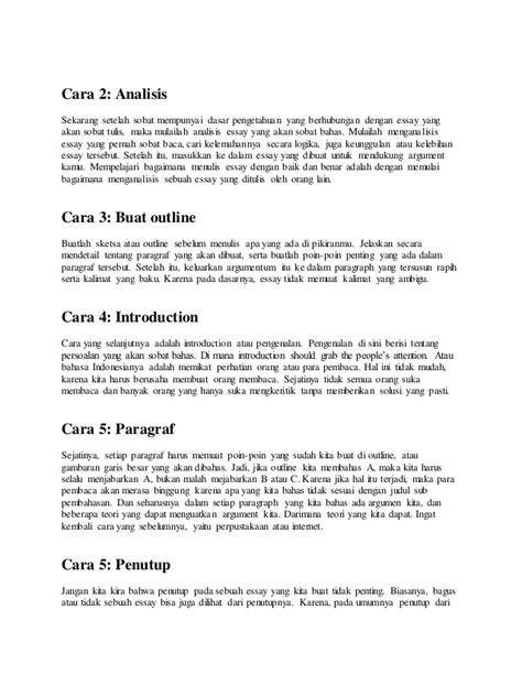 Membuat Outline Essay | tips membuat essay